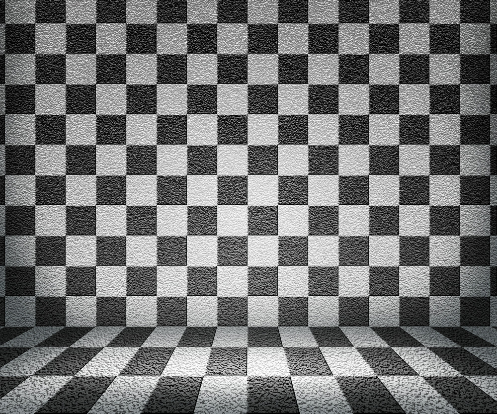 Bw Chessboard Room Background