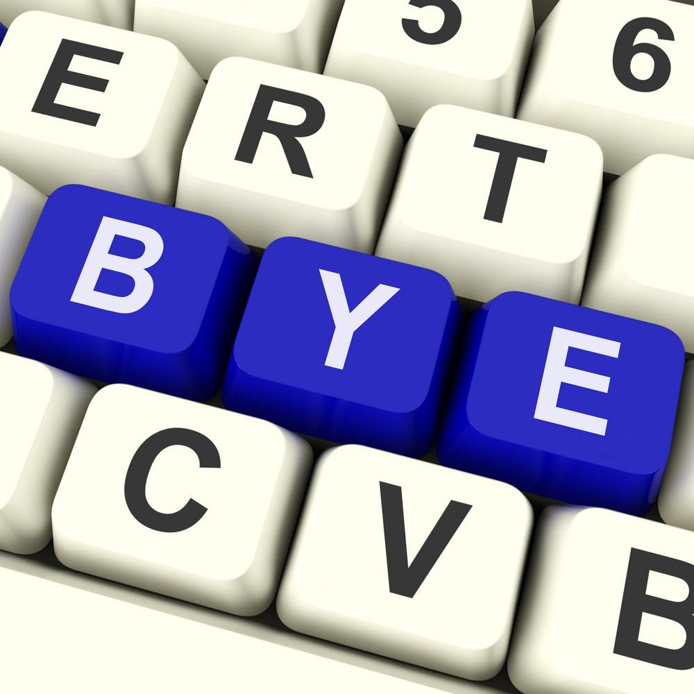 Bye Key Shows Departing Or Leaving