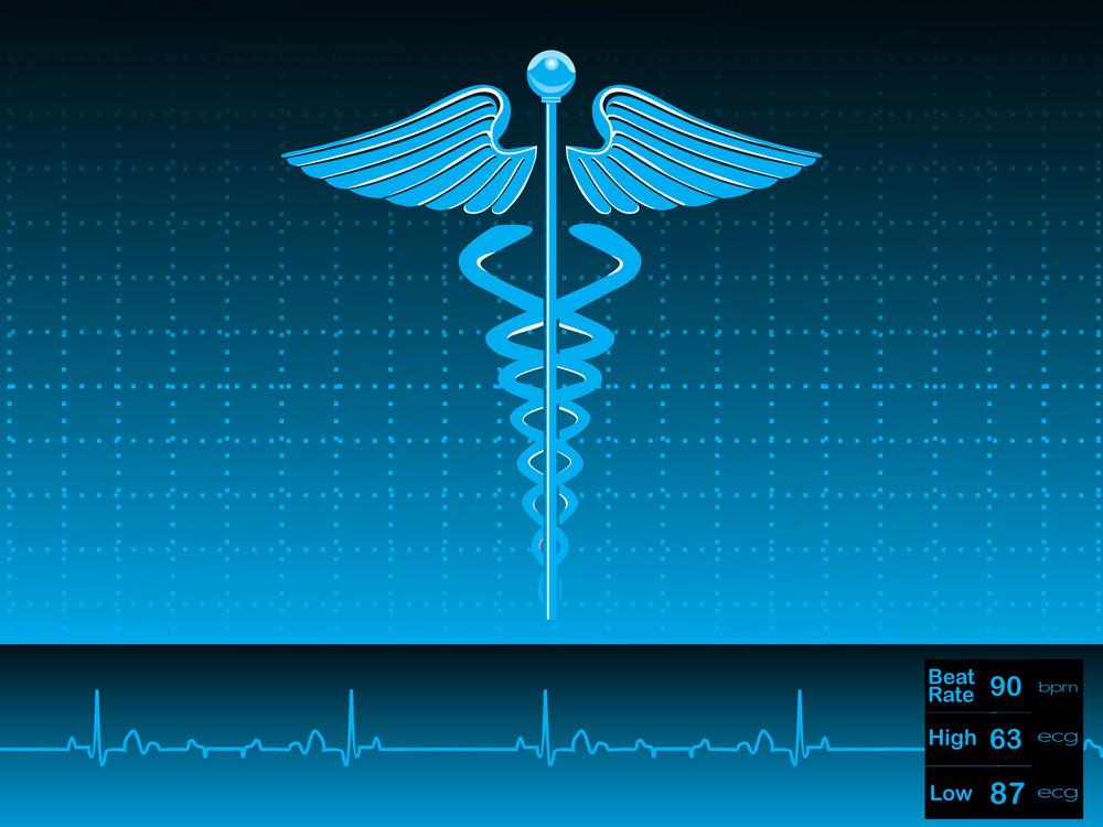 Caduceus Medical Symbol Vector Illustration