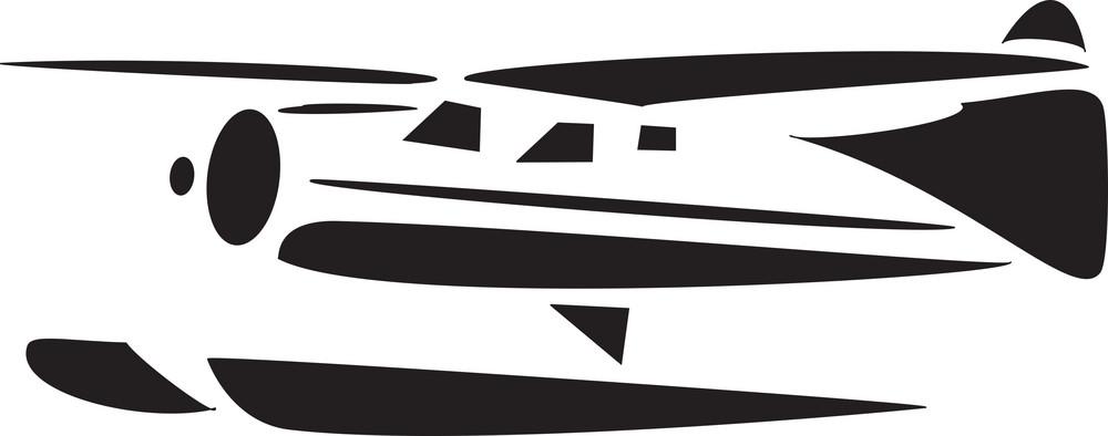 Black And White Airplane.