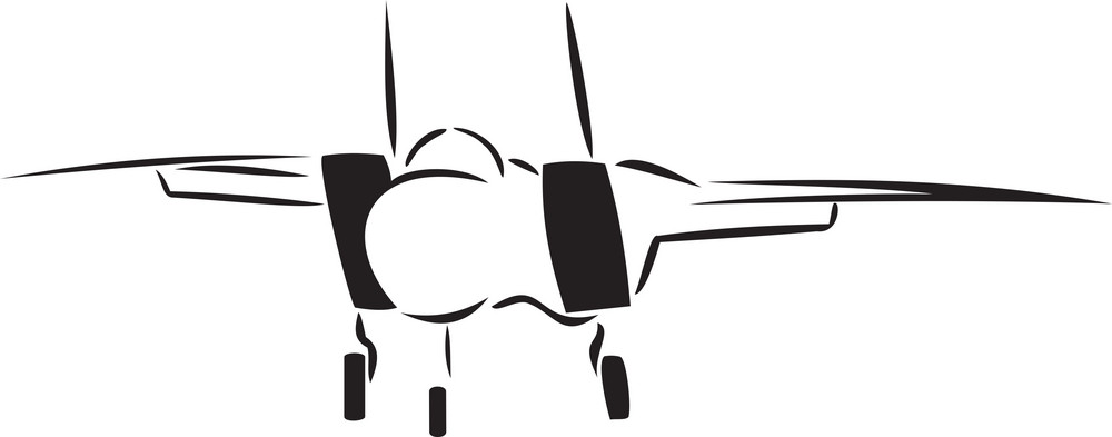 Illustration Of A Standing Airplane.
