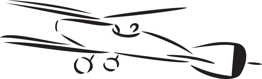 Illustration Of An Airplane.