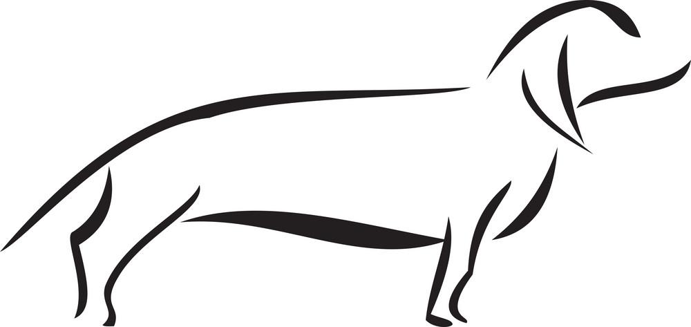 Illustration Of A Dog.