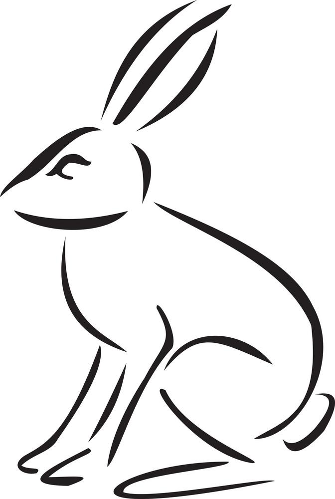 Illustration Of A Rabbit.