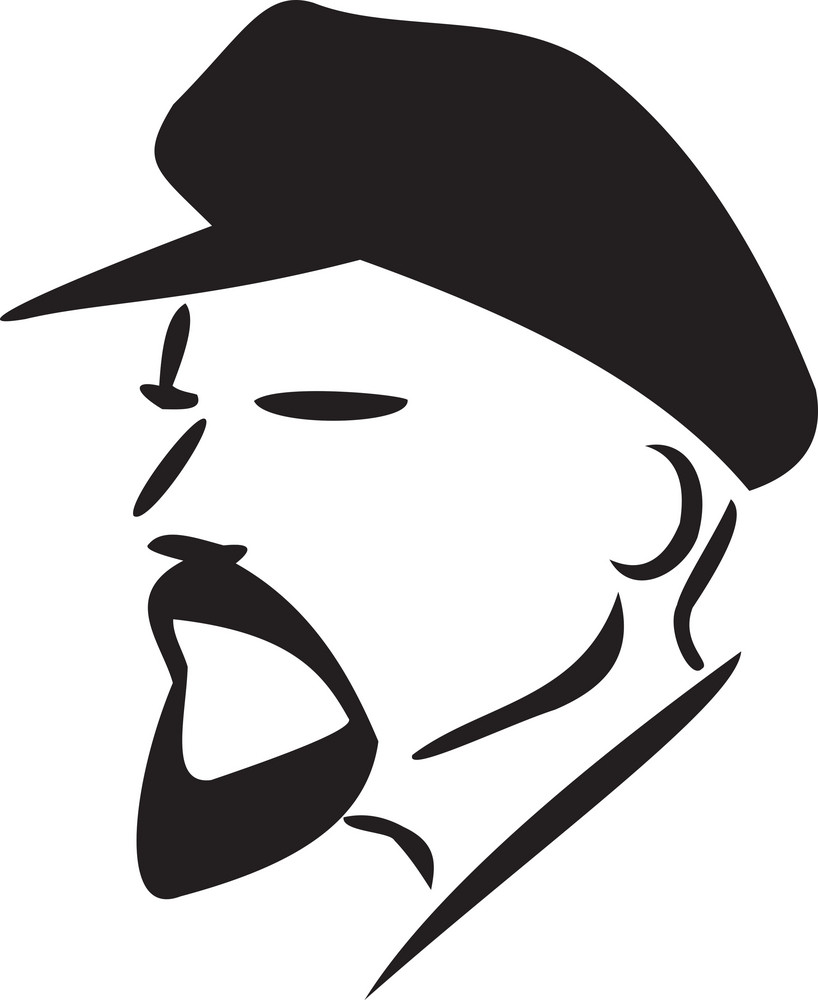 Illustration Of A Communist Man.