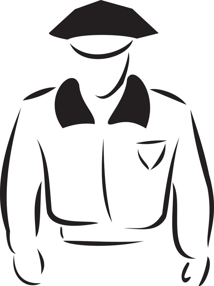 Illustration Of A Policeman.