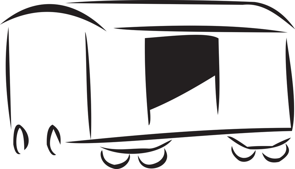 Illustration Of A Train Bogie.