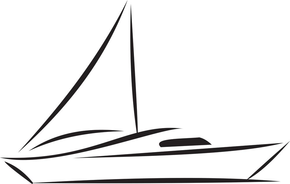 Illustration Of A Boat.
