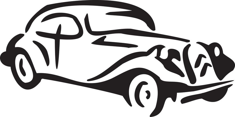 Illustration Of A Chicago 1930s Car.