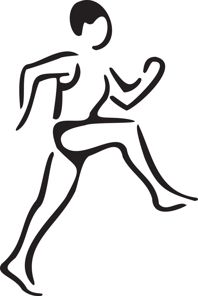 Young Athletic Man Running.