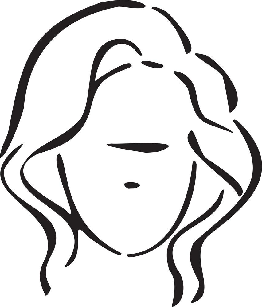 Illustration Of Haircut Girl.