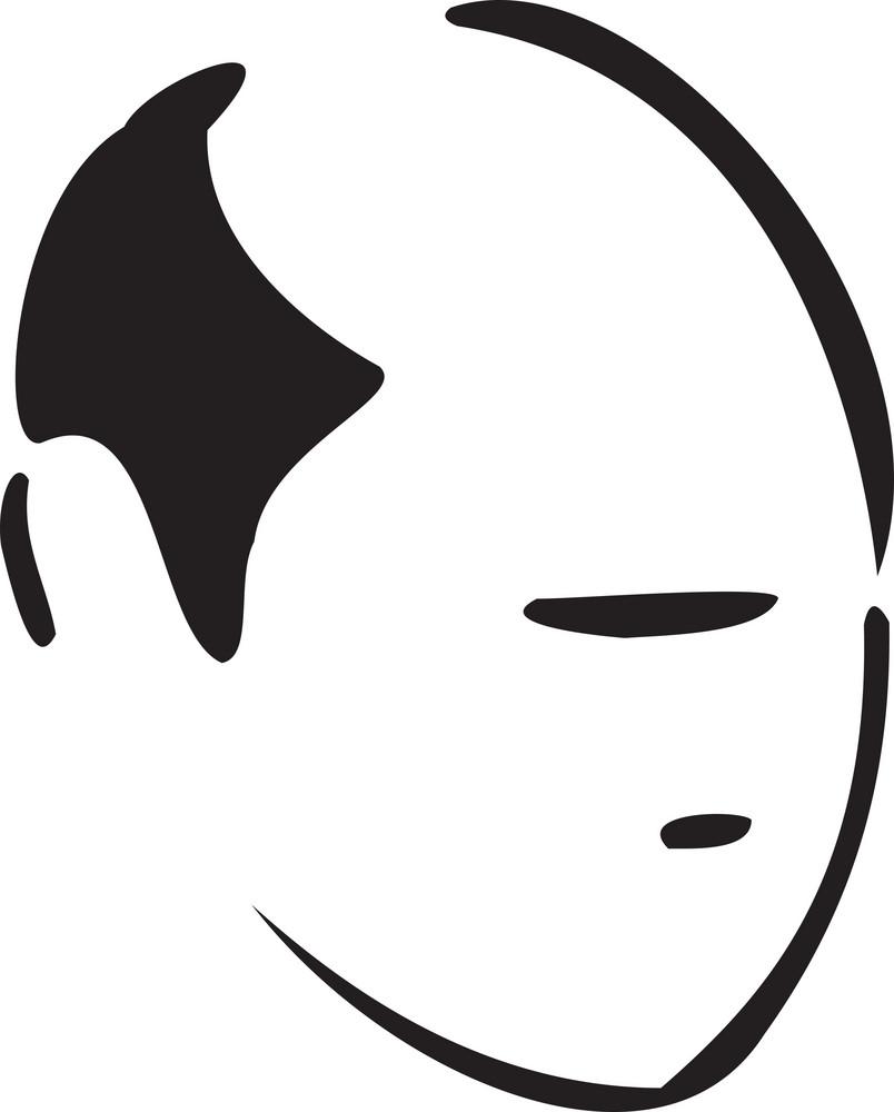 Illustration Of Haircut Man.