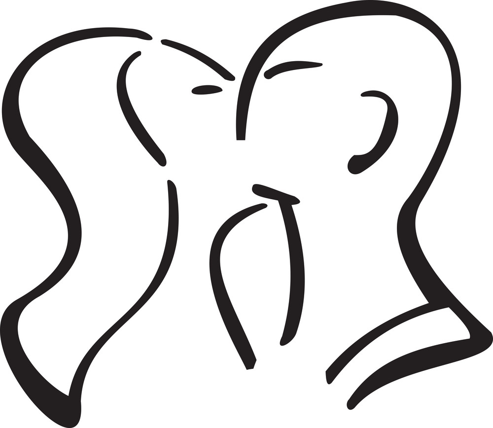 Couple Kissing To Each Other.