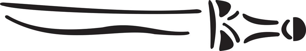Illustration Of A Sword.