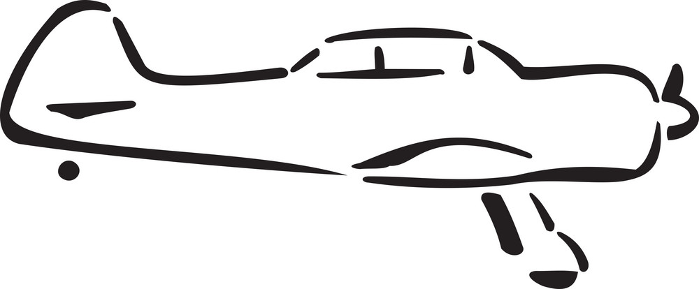 Illustration Of A Airplane.