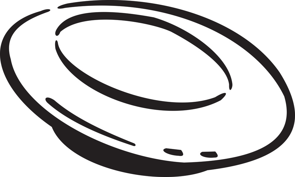 Illustration Of A Ufo Spaceship.