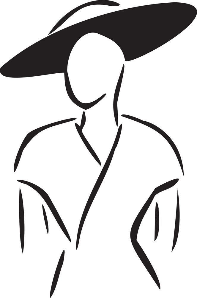 Illustration Of 1950's Fashion Clothing.