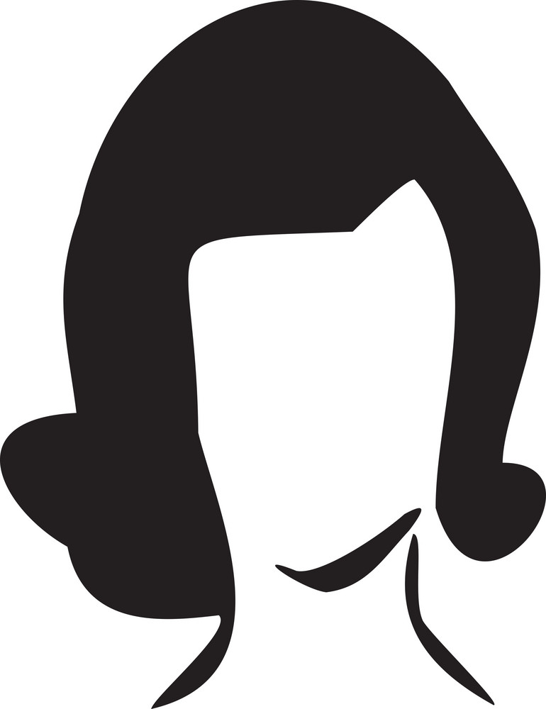Illustration Of 1950's Hair Style.