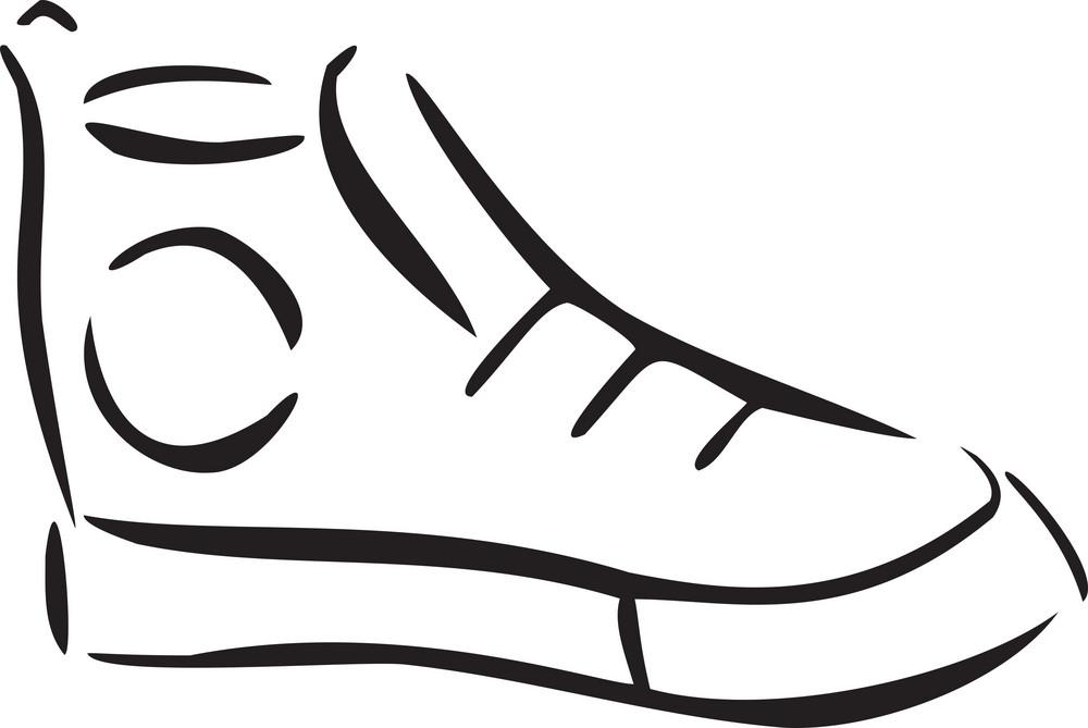 Illustration Of Vintage Footwear.