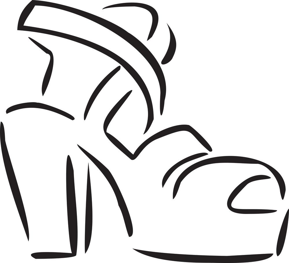 Illustration Of High Platform Shoes.
