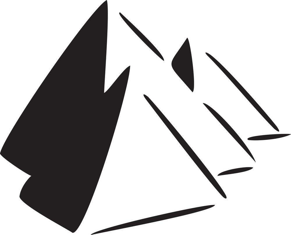 Illustration Of Egyptian Pyramid.