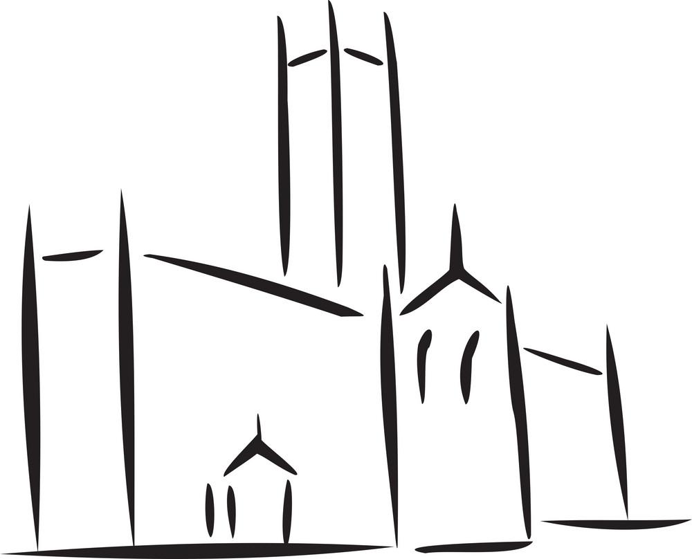 Illustration Of A Church.