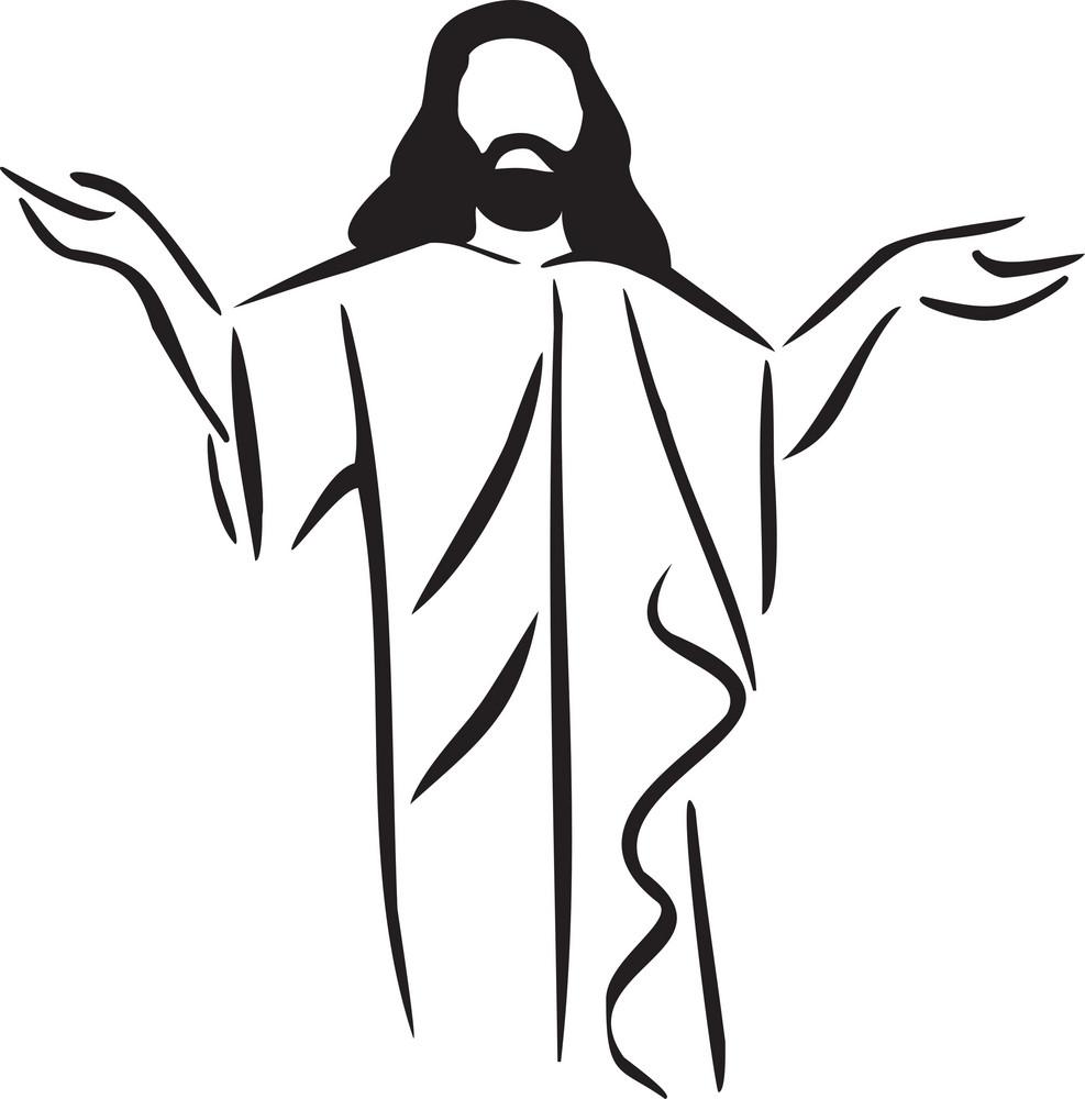Illustration Of The Great Jesus Christ.