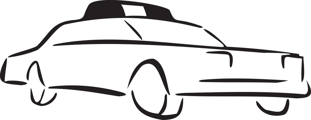Illustration Of A Taxi.