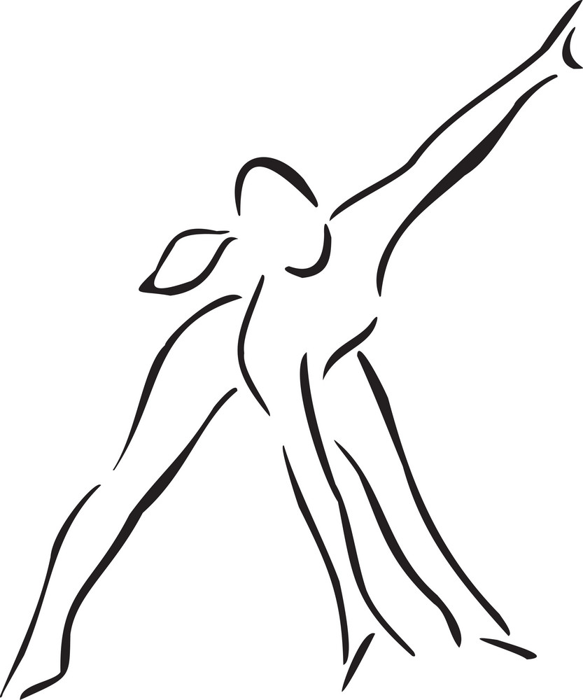Concept Of Dance With A Girl.