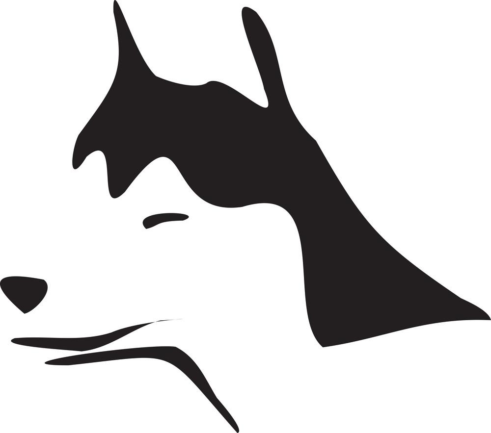 Illustration Of A Dog's Face.
