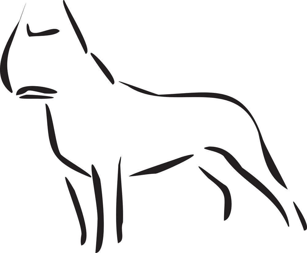 Illustration Of A Standing Dog.