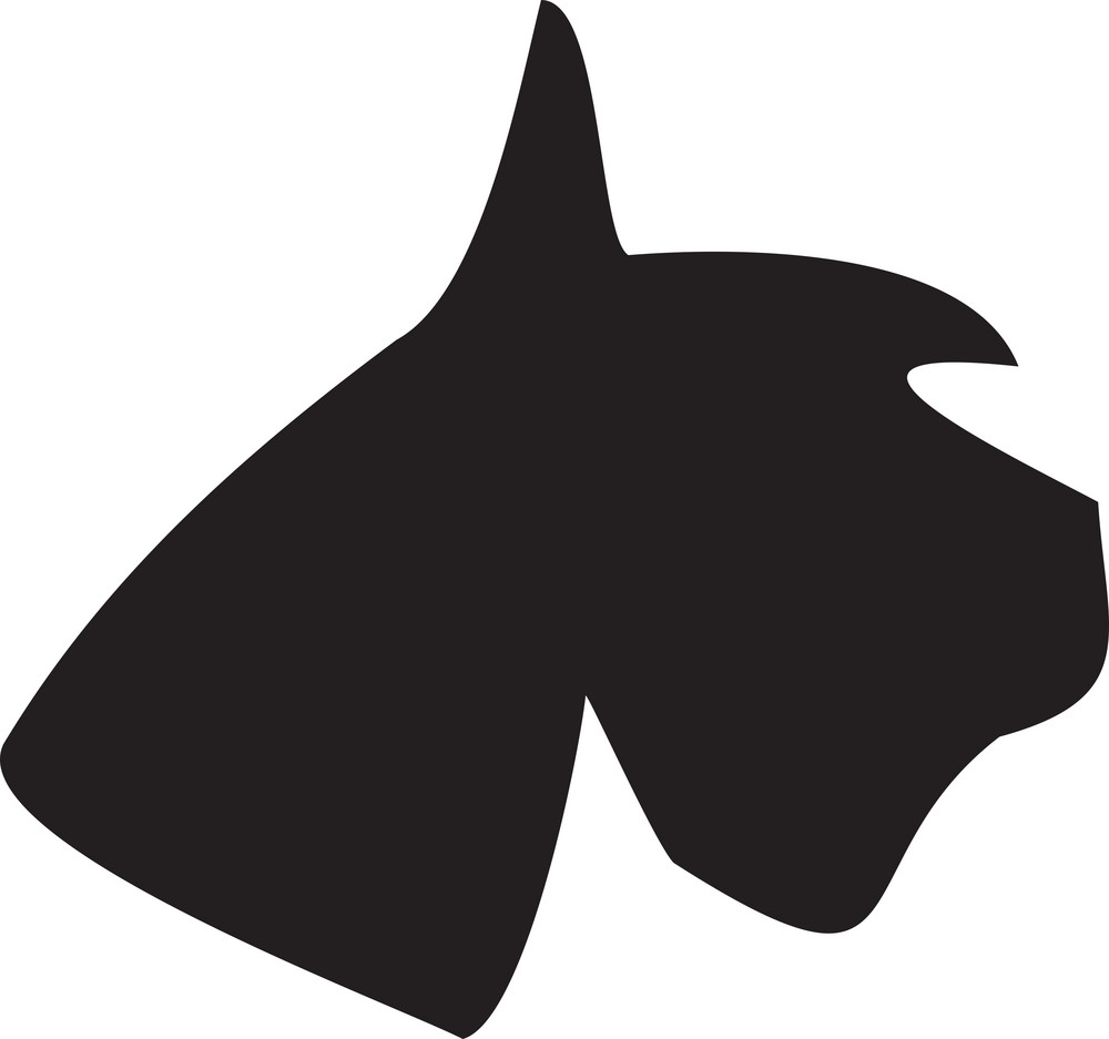 Silhouette Of A Dog's Face.