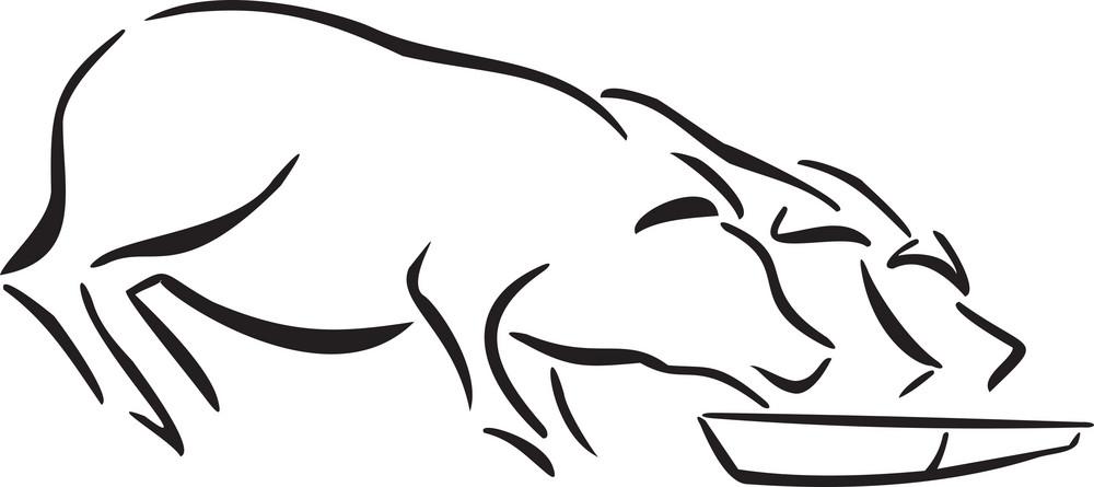 Illustration Of Feeding Cattles.