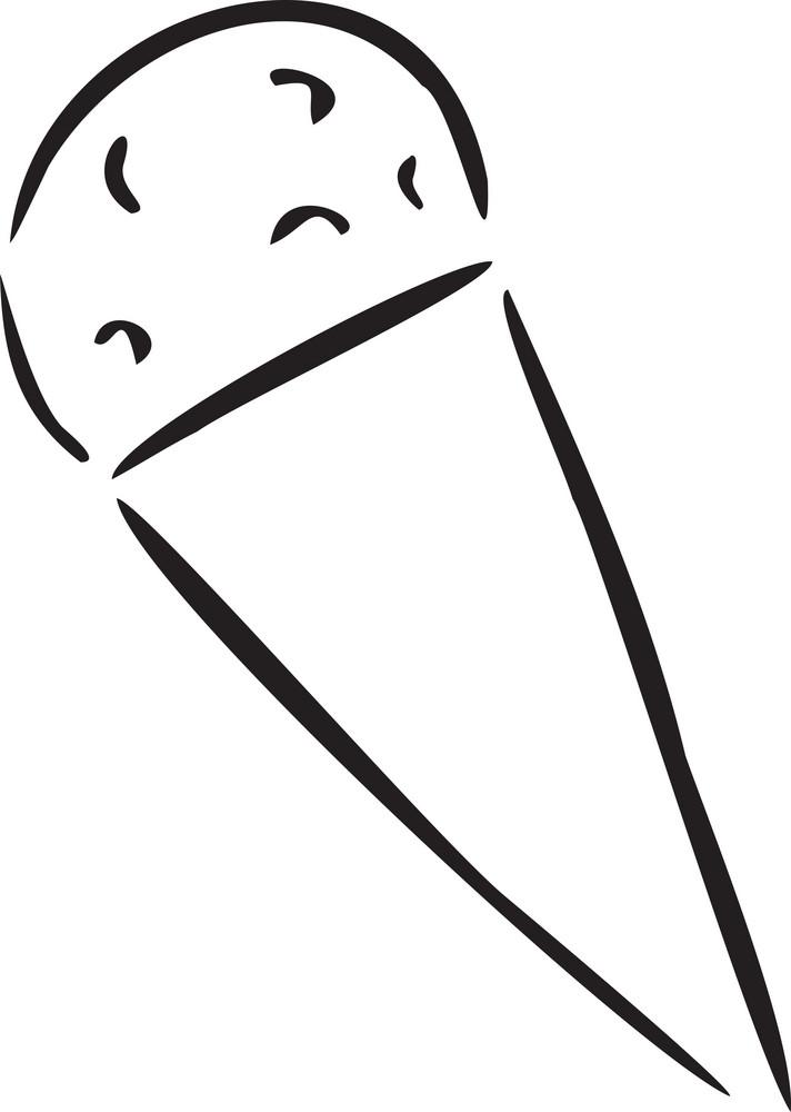 Illustration Of Cone Ice-cream.
