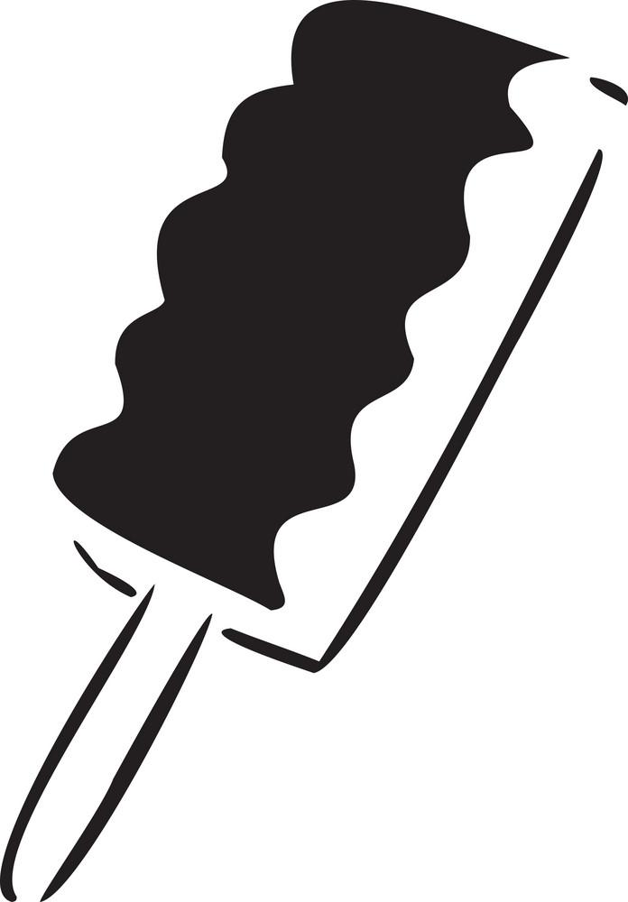 Illustration Of Stick Ice-cream.