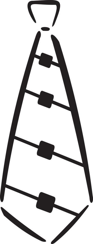 Illustration Of A Neck Tie.