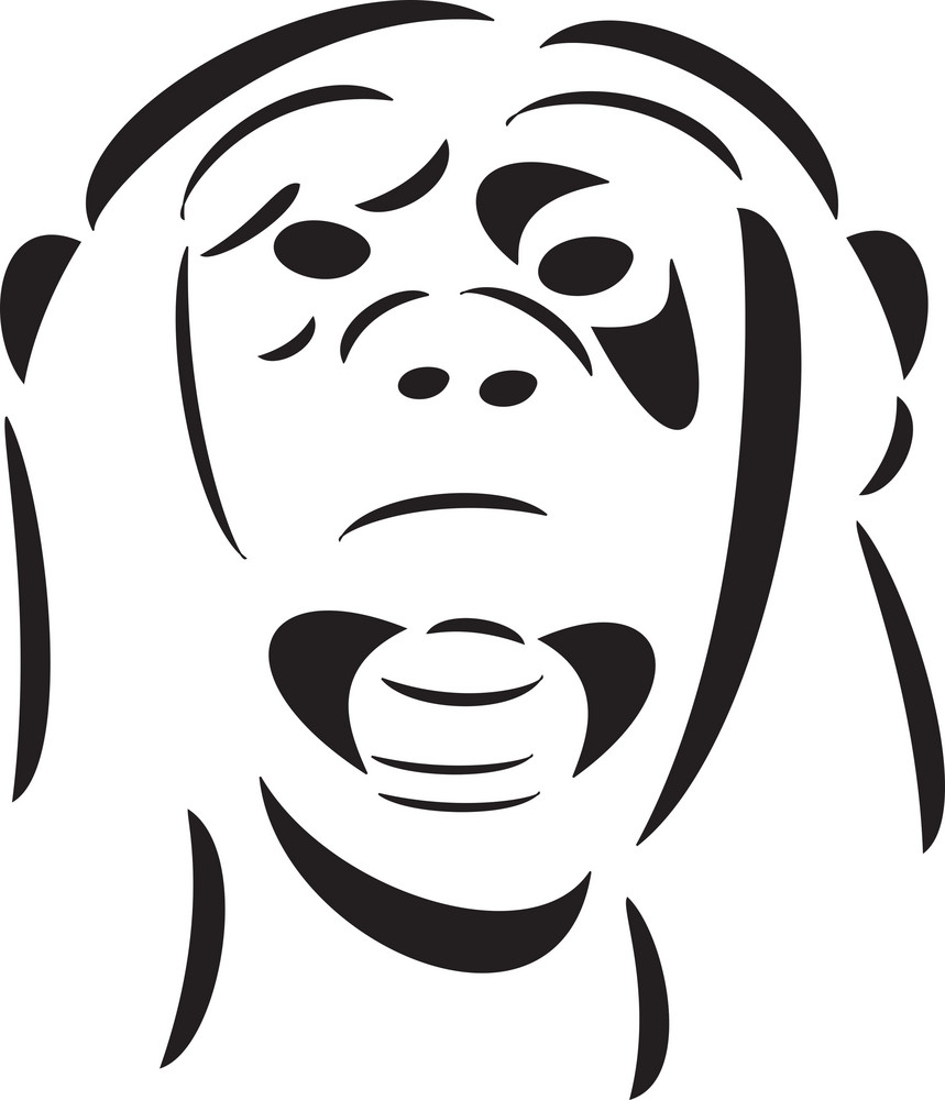 illustration of a monkey face royalty free stock image storyblocks
