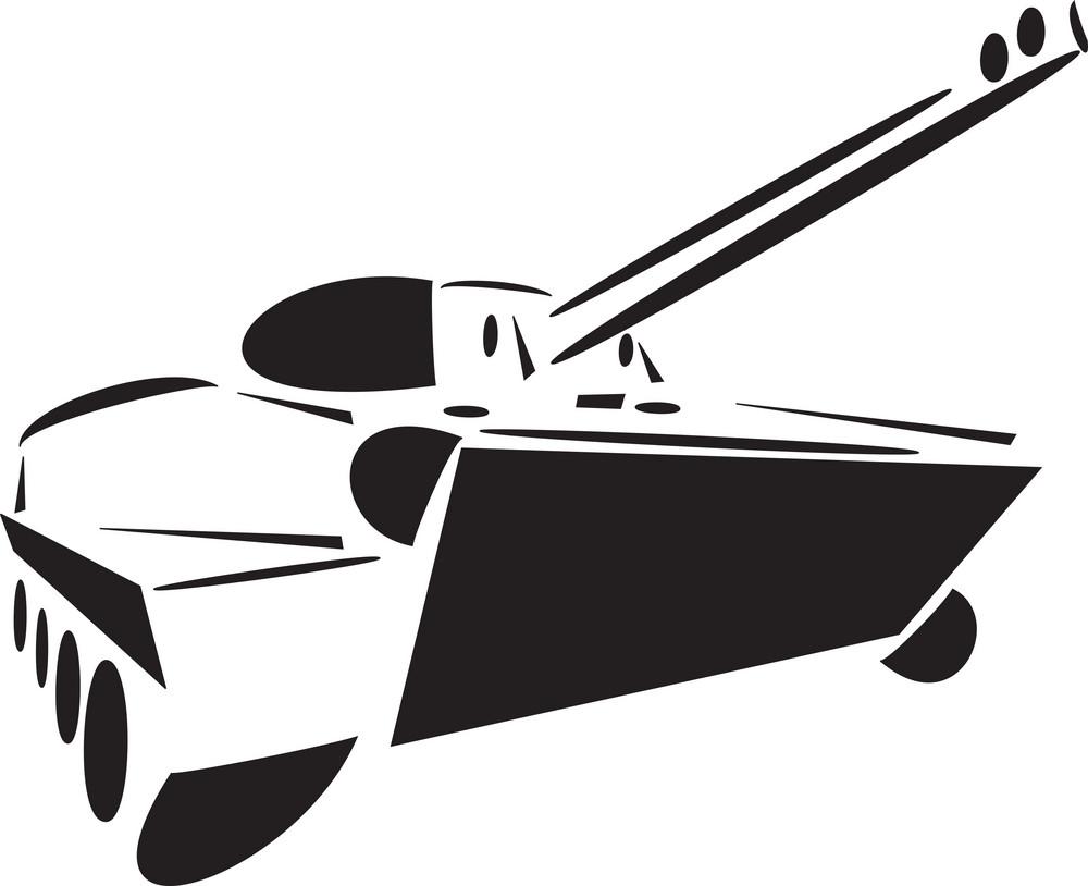 Illustration Of An Artillery Gun.