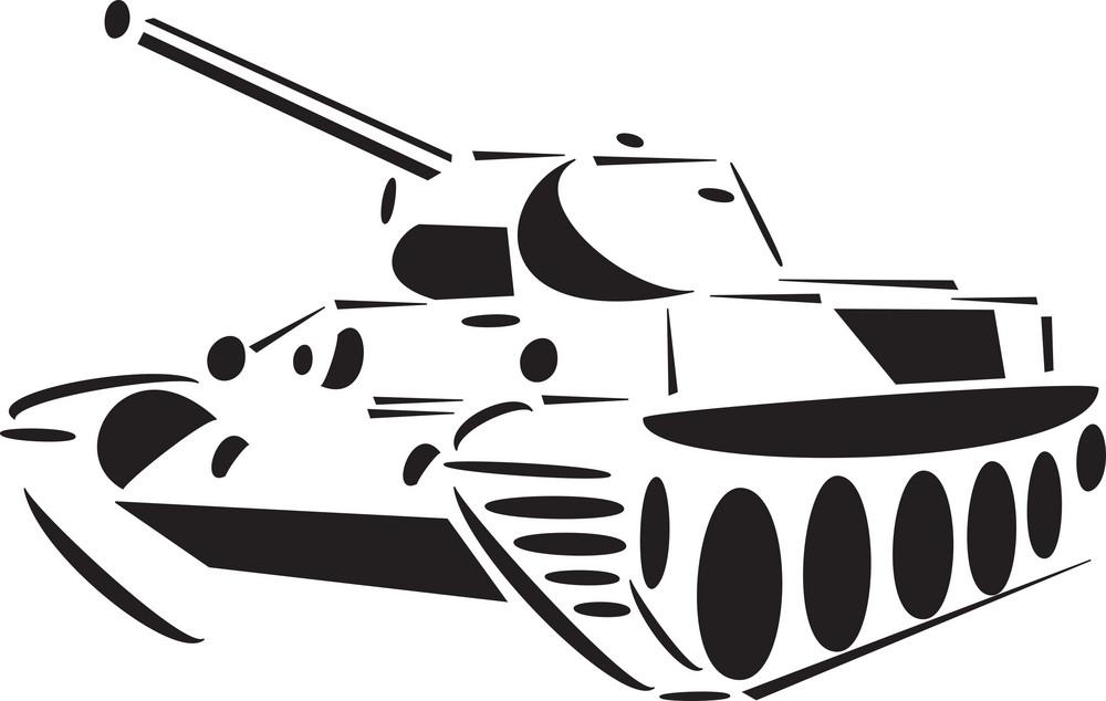 Illustration Of A Self Propelled Artillery.