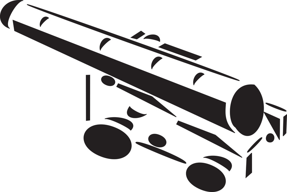 Illustration Of A Cannon.