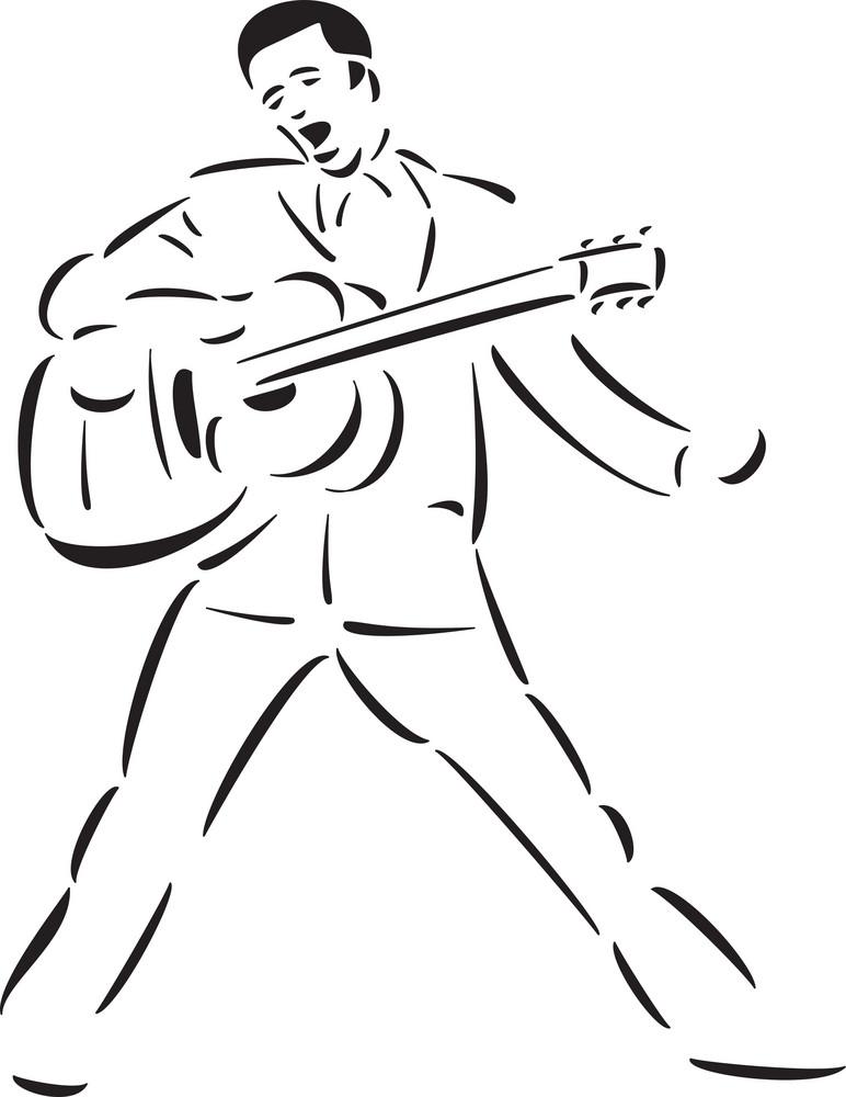 The Great American Singer Elvis Aaron Presley.