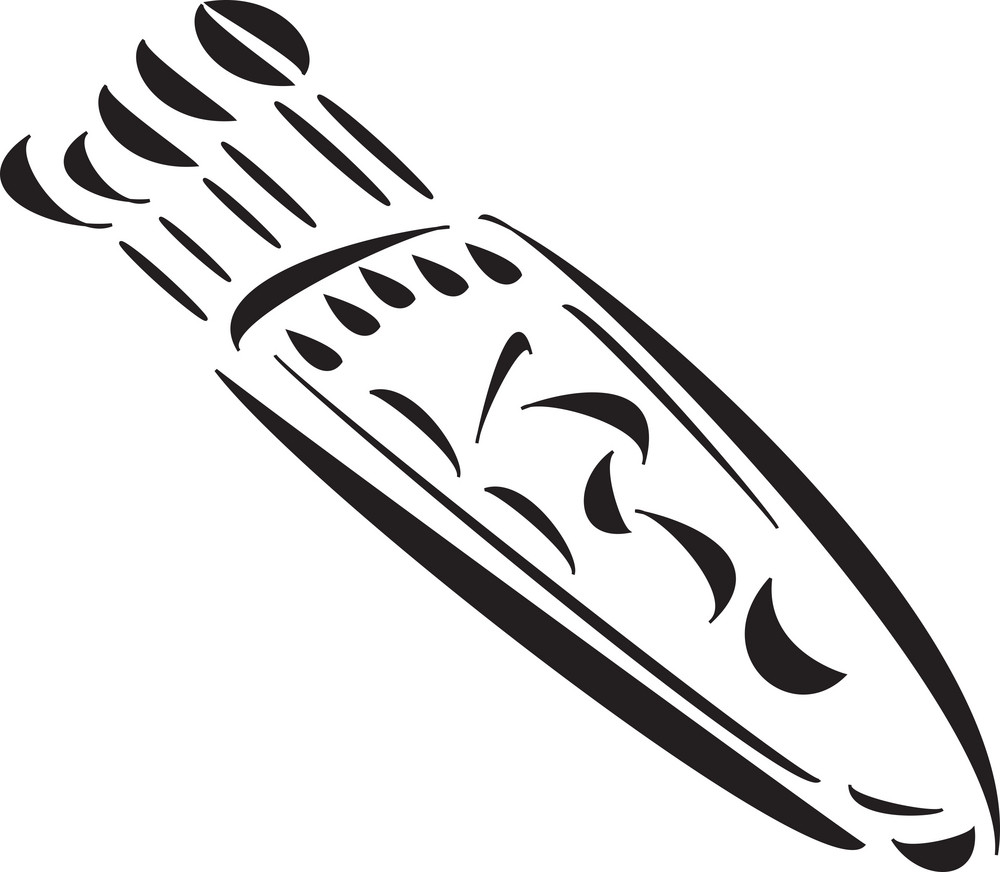 Illustration Of Mangolian Weapon.
