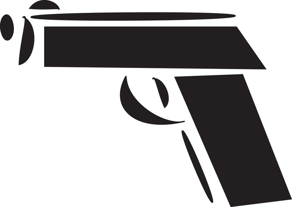 Illustration Of A Gun.