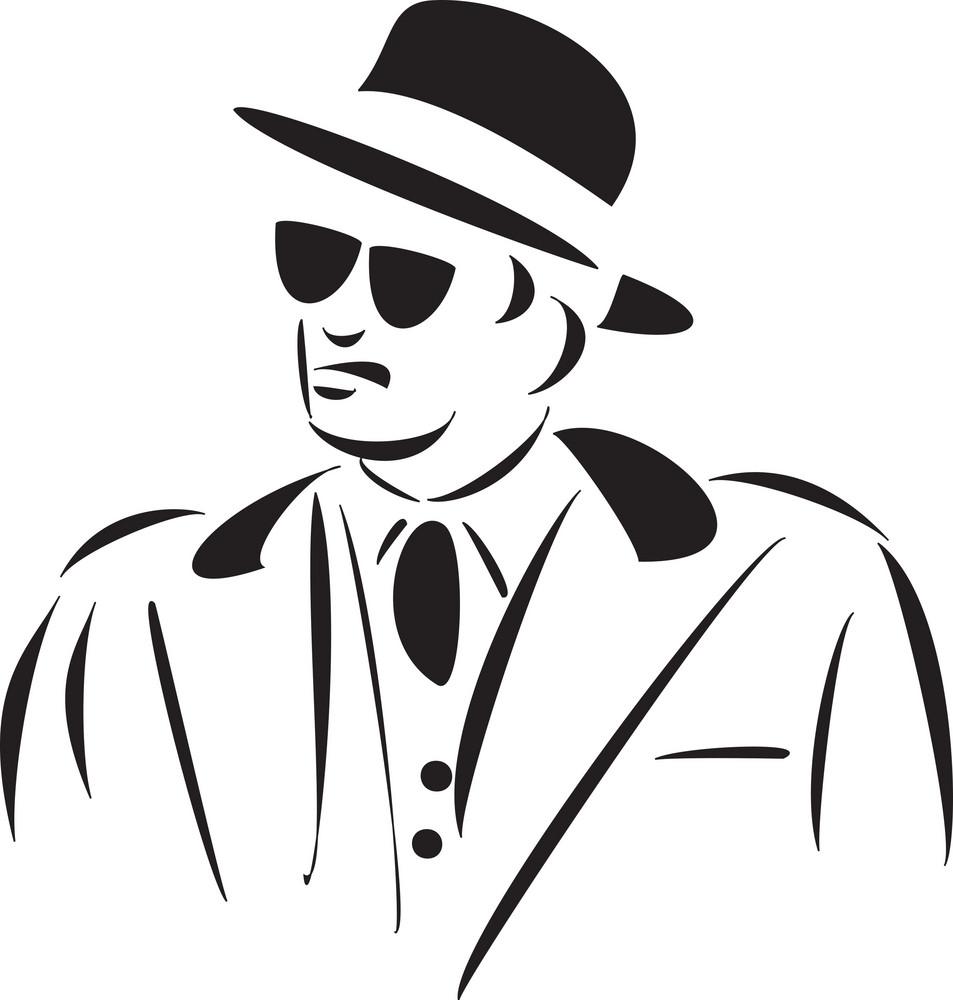 Illustration Of A Mafia Man.