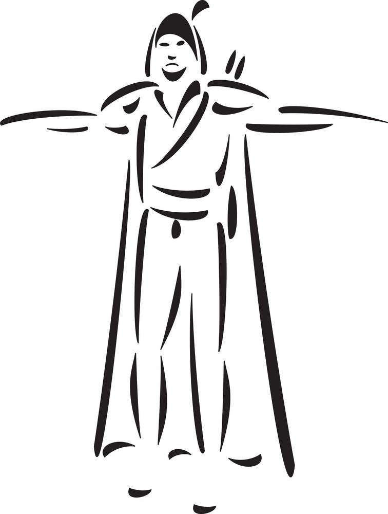 Illustration Of Robin Hood Character.