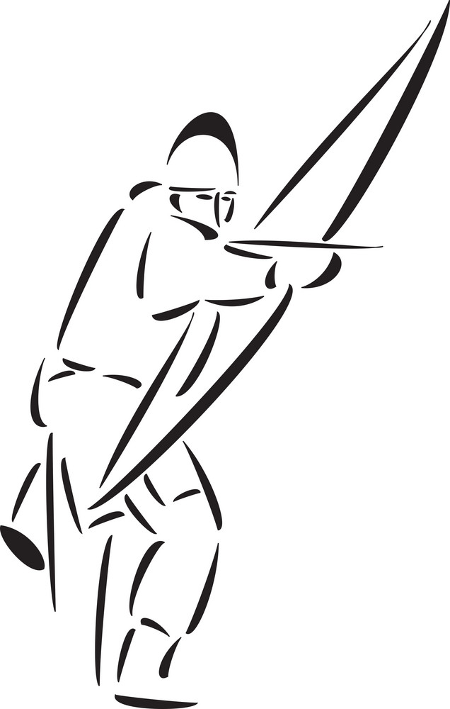 Illustration Of Robin Hood Character With Weapon.