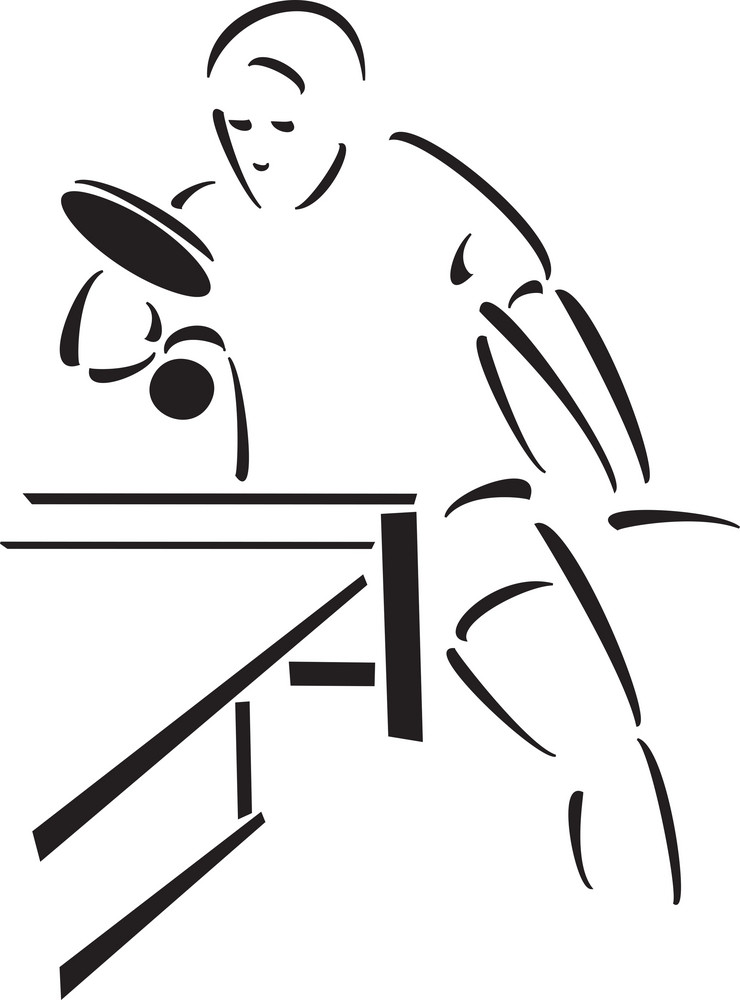 Illustration Of The Table Tennis Player.