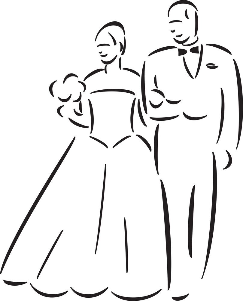 Concept Of Wedding With Wedding Couple.