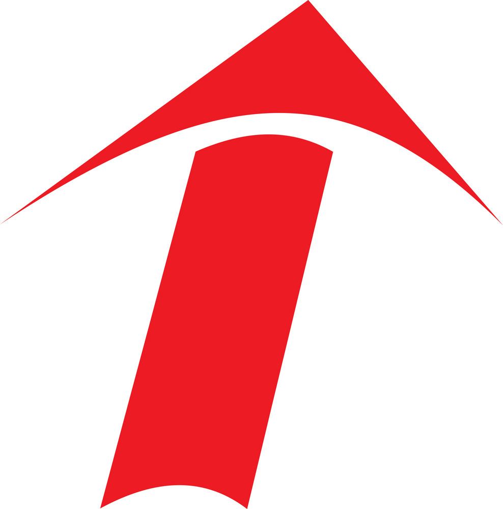 Red Design Element Of Arrow.