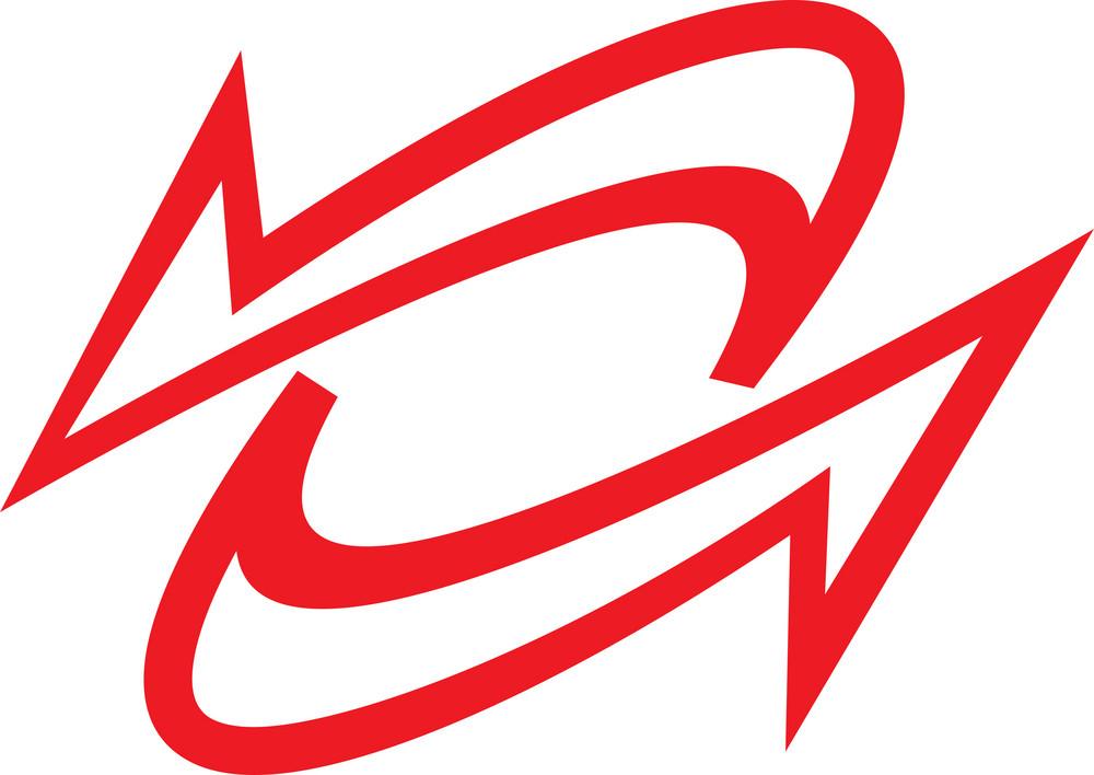 Red Design Element Of Arrow.